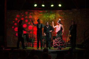 cuadro completo tablao flamenco Puro Arte Jerez
