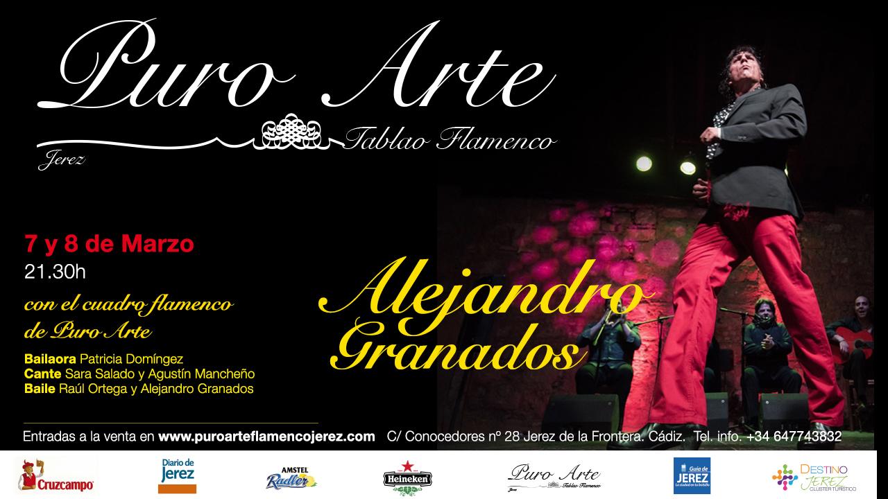 AlejandrCartel de Alejandro Granados en el II Festival flamenco Puro Arte Jerez