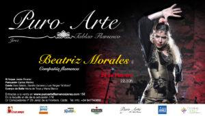 Cartel de Beatriz Morales en el II Festival Flamenco Puro Atte Jerez