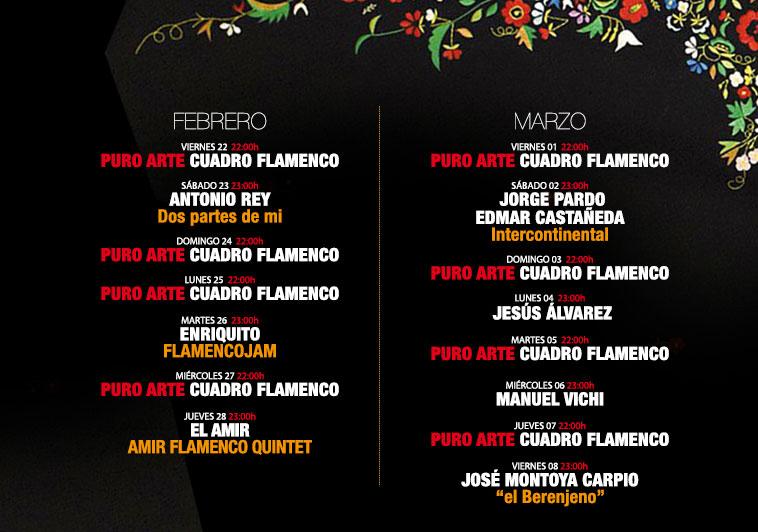 Programa III Festival Flamenco Puro Arte 2019 23 de febrero al 8 de marzo