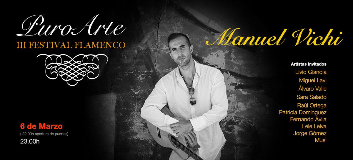 Manuel Vichi 6 marzo 2019 Tablao Flamenco Puro Arte