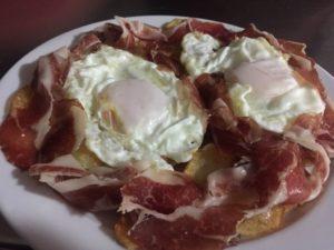 Huevos fritos con jamón Puro Arte