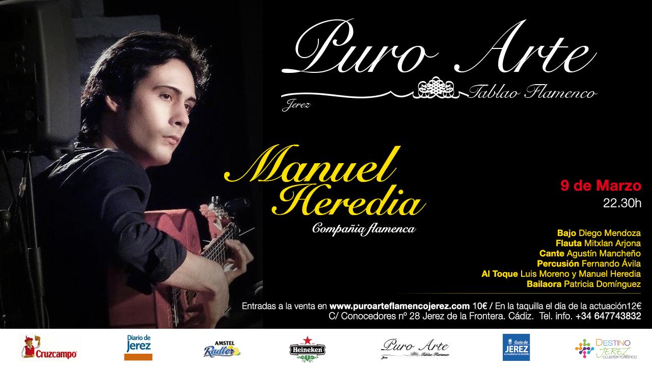 Cartel de Manuel Heredia en el II Festival Flamenco Puro Arte Jerez