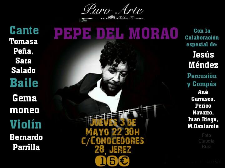 Cartel de la actuación de Pepe del Morao en Puro Arte