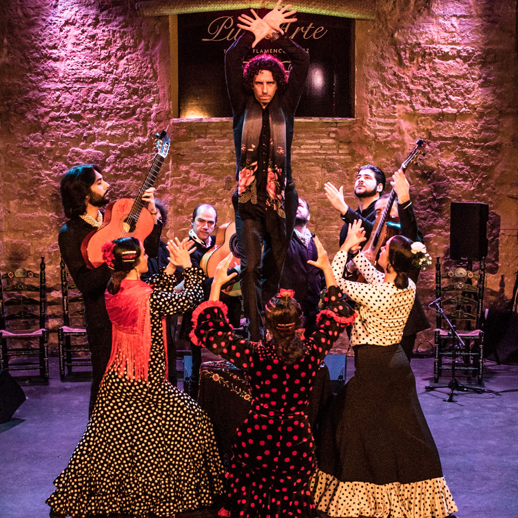 Tablao Flamenco Images Gallery, Artists acting inside