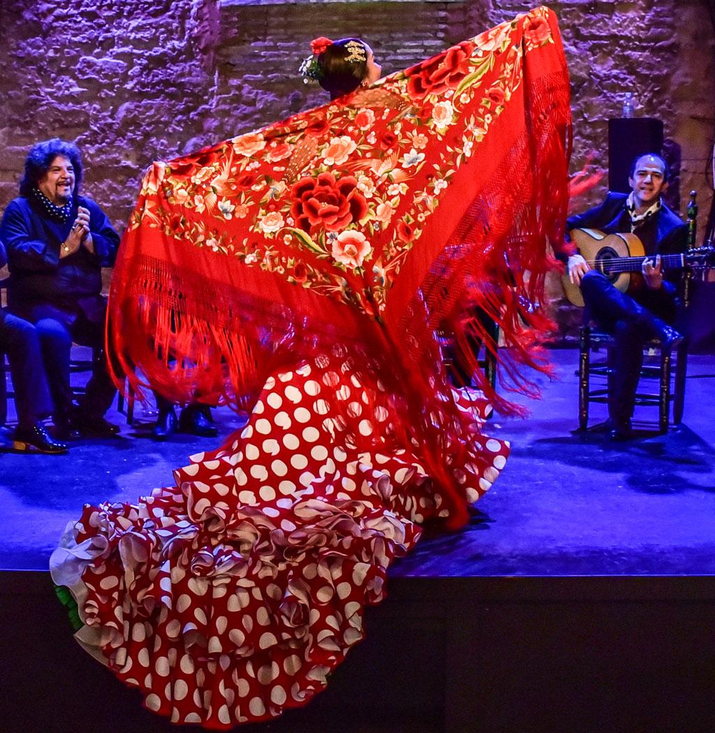 clases de flamenco manton de manila
